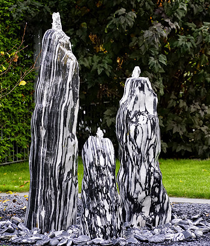 Quellsteinbrunnen 3er Set Black Angel Premium 90 - Vorschaubild