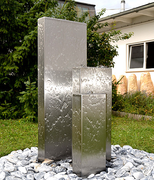 Edelstahlbrunnen Wasserwand Bochum Vario Set 3/150/12