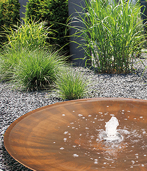 Cortenstahlbrunnen Wasserschale Aqua Bowl 120 M2 - Bild 05