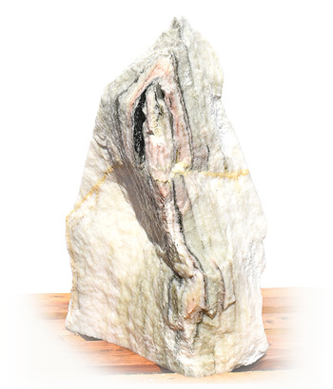 Sölker Marmor Quellstein Nr 304/H 80cm - Bild 1