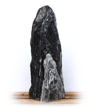 Tiger Black Marmor Quellstein Nr 51/H 117cm/1