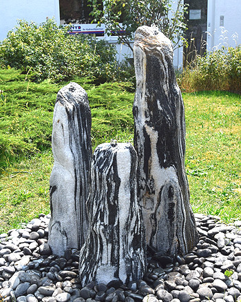 Quellsteinbrunnen 3er Set Black Angel Natur 120 - Bild 2