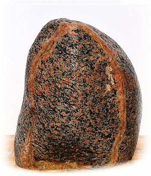 Eisgletscher Granit Quellstein Nr 23/H51cm - Findling 04