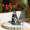 Quellsteinbrunnen Set Black Angel Marmor 80 Bild 01