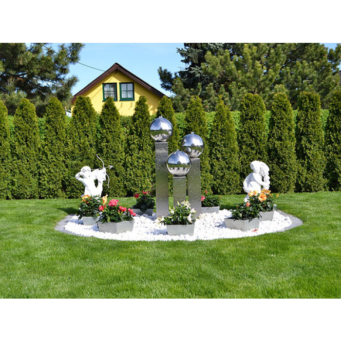 edelstahl gartenbrunnen frankfurt 3er set 150s30. Black Bedroom Furniture Sets. Home Design Ideas